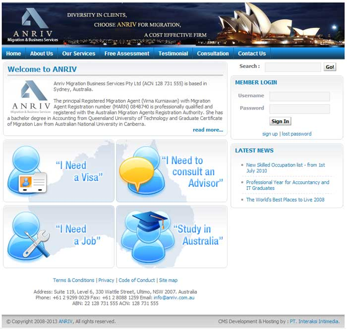 Anriv Australia Migration Business Services Indonesia Web Design Agency Indonesia Web