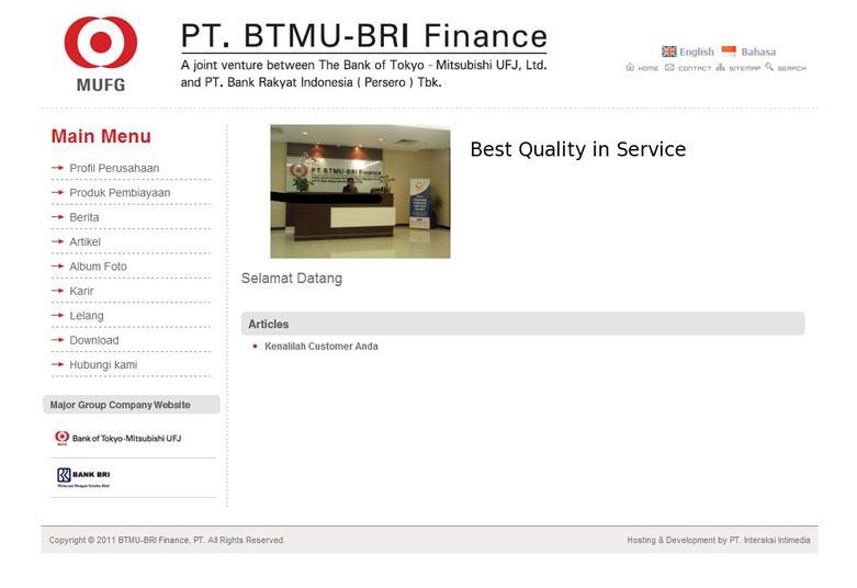 BTMU-BRI Finance