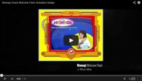 Momogi Snack Welcome Flash Animation Design