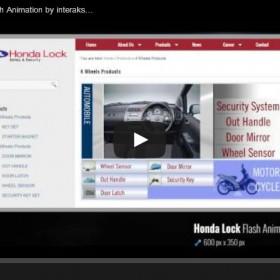 Honda Lock Products Flash Animation by interaksi.co.id