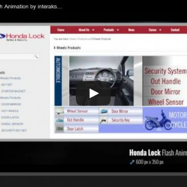 Honda Lock Products Flash Animation by interaksi.co.id