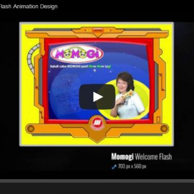 Momogi Snack Welcome Flash Animation Design
